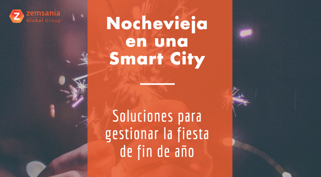 nochevieja en una smart city