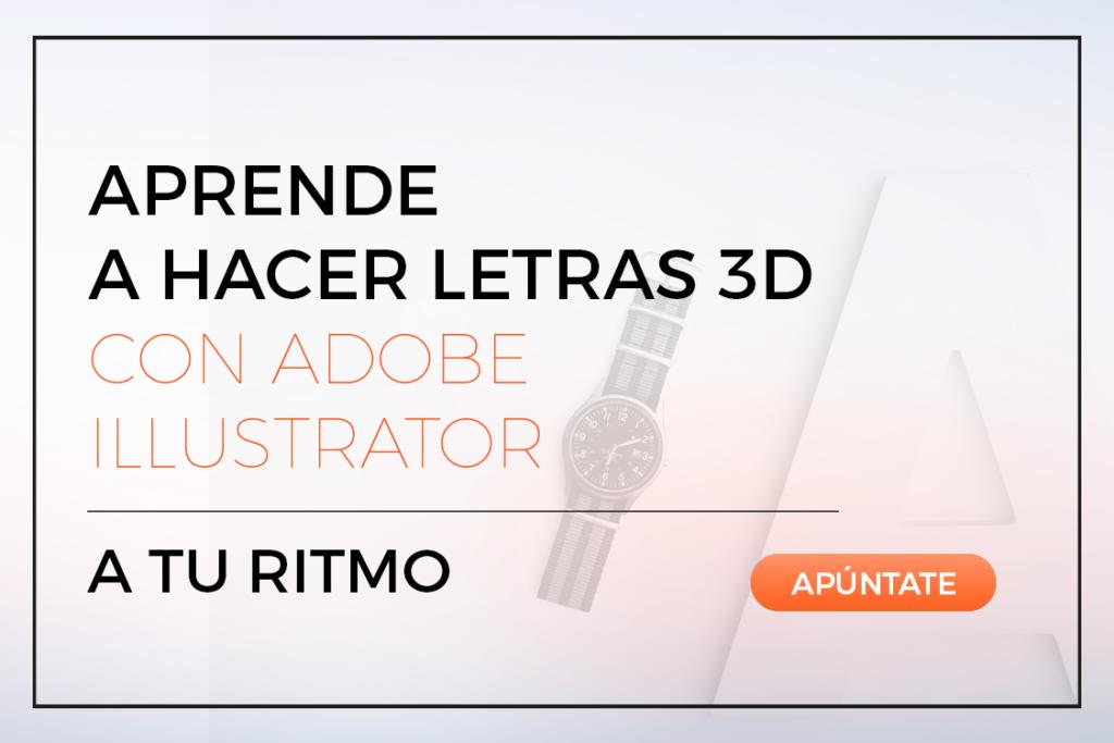 curso letras 3D adobe ilustrator